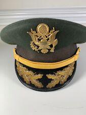 Vintage U.S. Military General's Dress Uniform Hat Made By Devonshire Size 7-1/8