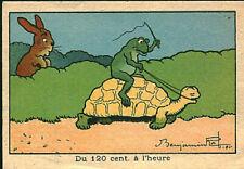 Image ancienne chromo du 120 cent à l'heure Benjamin Rabier 1920 / 1940