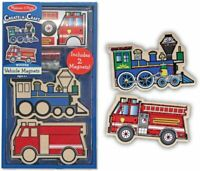 Melissa and Doug Create-A-Craft Wooden Vehicles Magnets (BNIB) - 14795