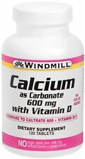 Windmill Calcium With Vitamin D 600 mg Tablets 120 Tablets
