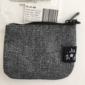 JuJuBe Gray Matter Coin Purse Machine Washable Limited Edition 3x4 Inches