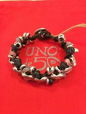 "NWT Uno de 50 pul1614 ""flora"" silver plated and handmade crystal bracelet $145"