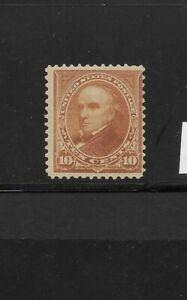 US Scott #283 mint never hinged 10c orange brown Webster reg issue 1899 og f/vf