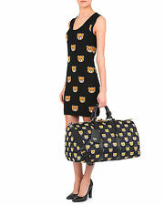 $1,295 MSRP AW15 MOSCHINO COUTURE Jeremy Scott Ready To Bear DUFFLE TRAVEL BAG