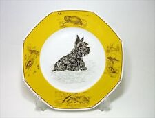 HERMES Shas 21cm Plate Scotch terrier Yellow F/S from Japan Rare