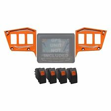 Billet 2 Piece Dash 6 Switch Panel GPS COMBO Polaris RZR S 900 4 Orange Madness