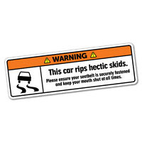 Warning This Car Rips Hectic Skids Sticker Funny Car Stickers #6021K