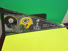 NFL- SUPER BOWL XLV-45 GREEN BAY PACKERS VS. PITTSBURGH STEELERS PENNANT 12X30