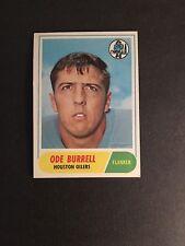1968  TOPPS FOOTBALL     #146   ODE  BURRELL    EX