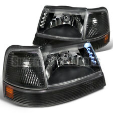 1998-2000 Ford Ranger LED Head Lights+Corner+Bumper Signal Black