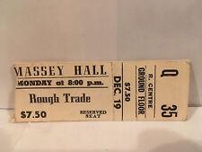 Rough Trade Concert Ticket Stub 12-19-1977 Massey Hall Toronto ON