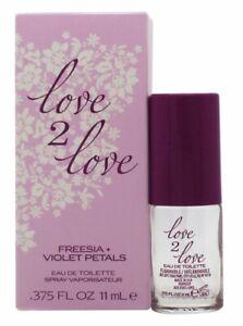 LOVE2LOVE FREESIA + VIOLET PETALS EAU DE TOILETTE 11ML SPRAY - WOMEN'S FOR HER