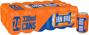 IRN-BRU Fizzy Drink Cans, 330ml Pack of 24