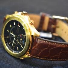 Seiko reloj hombre Vintage Shq010j Olimpic Perpetual cronometro Alarm 6m13-702a
