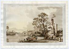 Antique Print-SHREWSBURY BRIDGE AND LANDSCAPE-Sandby-1778
