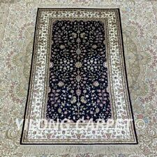 YILONG 2.5'x4' Small Size Handknotted Silk Carpet Vintage Home Area Rug H179B