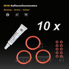 10x Dichtungsset O-Ringe Kolbenringe Silikonfett zu DeLonghi Kaffeevollautomat