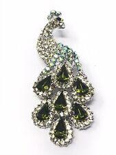 Fashion Brooch Peacock Green Costume Jewelry