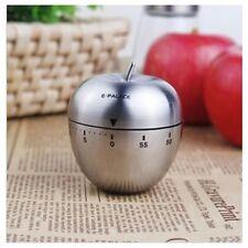 Acero inoxidable de cocina mecánica temporizador de alarma 60 minutos de Manzana