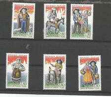 timbre france 1995 serie santons de provence 6 timbres (2976 à2981)