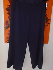 BNWT Moschino Cheap & Chic Cropped Trousers Wide Leg Navy Size UK 8