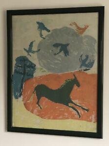 1960 Sue Royall SIGNED Framed Serigraph Print Student Of SISTER CORITA KENT