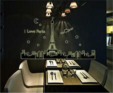 Paris Glow Night Home Room Decor Removable Wall Stickers Decal Decorations