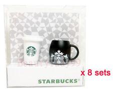 Starbucks Taiwan 2012 phone & digital 3.5mm dust stopper hot cup & mug * 8sets