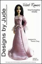 "Velvet Rumors Doll Clothes Sewing Pattern for 17"" Vinyl Evangeline Ghastly"