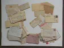 60 Old Letters 1800s-70s Correspondence Lot Collection Papers Covers Stamps VTG