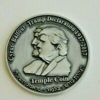Donald Trump Half Shekel Coin King Cyrus Jewish Temple Mount Israel Original New