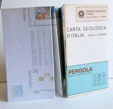 Carta idrogeologica PERGOLA Scala 1:50.000  + libro Servizio Geologico d'Italia