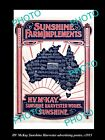 OLD LARGE HISTORIC PHOTO OF HV McKAY SUNSHINE HARVESTER ADVERTISING POSTER c1915