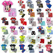 enfants bébé garçons filles 2pcs vêtements de Nuit Shorty pyjamas tenues SET