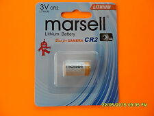 2 CR2 MARSELL 3V LITHIUM BATTERY BATTERIES RANGE FINDER PHOTO CR123A  CR17345