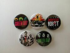 5 x Green Day buttons (badges, punk, american idiot, revolution radio, patch)