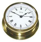 "Victory BA684 4"" Brass Ship's Clock ""Regatta"" 4-3/4"" x 1-5/8"" Case 135-931"