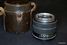 F.Auto-Topcor Tokyo Kogaku 10cm (100mm) f/2.8 telephoto lens, TESTED, beautiful