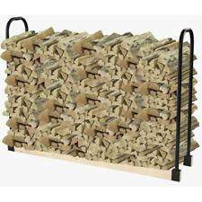 Durable Log Storage Rack Firewood Holder Heavy Duty Steel Fireplace Accessory