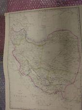 Persia map Dispatch Atlas cir 1860 Engraved-drawn E.Weller-31x43 cm Framed20more
