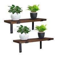 Floating Shelves Wall Mounted 2pcs Display Ledge Shelf With Bracket For US ❤