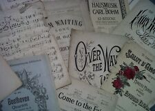 VERY SCRUFFY  music paper covers for art craft  decoupage card making  30 sheets