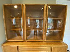 Heywood Wakefield Buffet Credenza Bubble Glass Doors