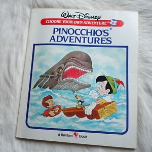 WALT DISNEY PINOCCHIO'S ADVENTURES 1985 Adventure Fantasy Puppet-Fiction PB RARE