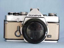 OLYMPUS OM-1N CHROME CAMERA BODY BEIGE LEATHER