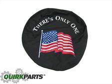 1997-2018 Jeep Wrangler or Liberty REAR Tire Cover American Flag MOPAR GENUINE