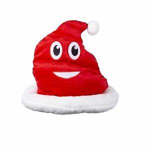 Lustiger Emoji Emoticon Weihnachts-Hut Scheisshaufen Shitmas Scherzartikel Mütze
