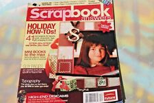 Scrapbook Answers Magazine, December 2005  FREE SHIP!