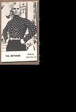 Yul Brynner - 1960's Movie Star Photo Card