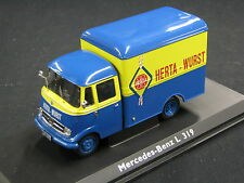 """Schuco Mercedes-Benz L319 Kofferwagen 1:43 """"Herta-Wurst"""" (JS)"""